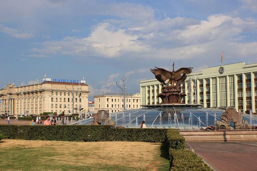 Weißrussland-Minsk_Unabhängigkeitsplatz