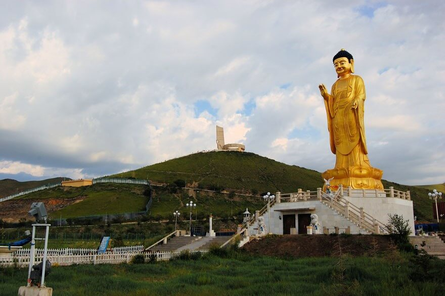 Buddha statue in Ulan Bator . Mongolia