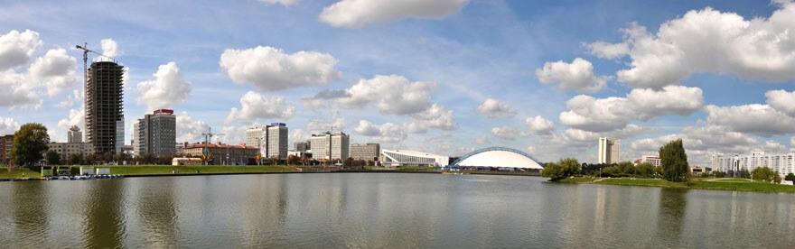Weißrussland Minsk Panorama